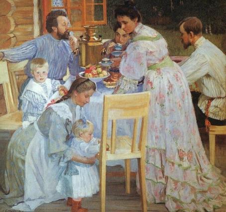 Семья на полотнах русских художников
